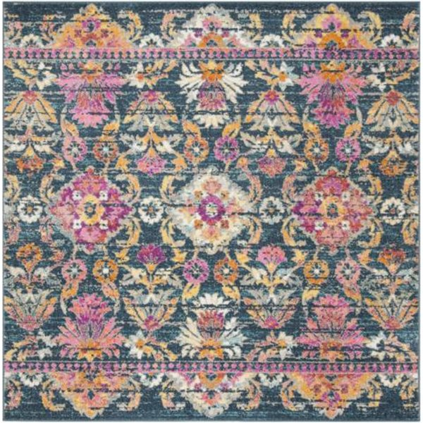 Safavieh Madison Blue and Fuchsia Area Rug,MAD130C-7SQ