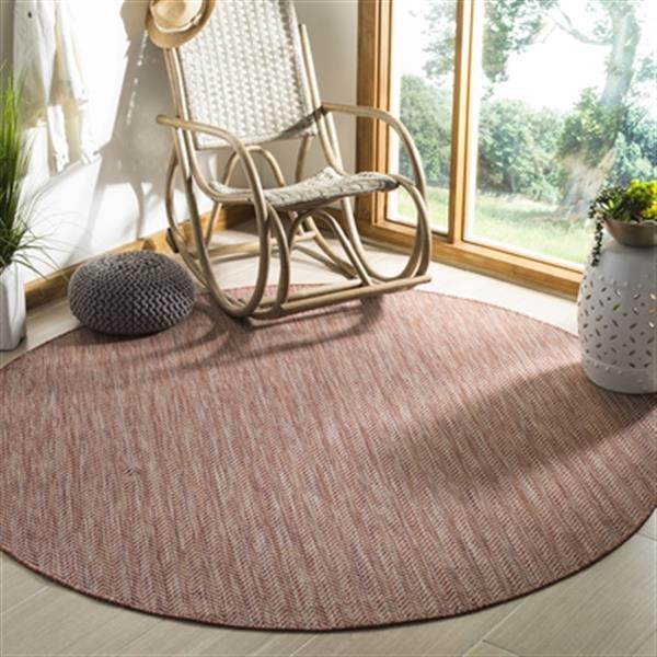Safavieh Red and Beige Courtyard Indoor/Outdoor Rug,CY8022-3
