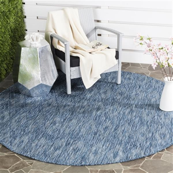 Safavieh Navy on Navy Courtyard Indoor/Outdoor Rug,CY8522-36