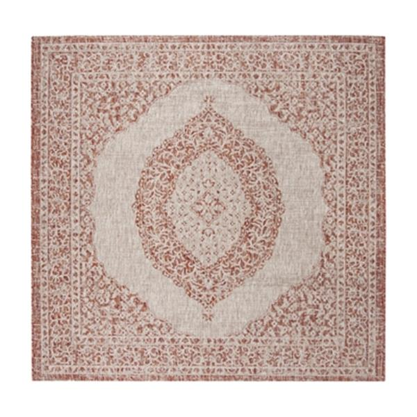 Safavieh Light Beige and Terracotta Courtyard Indoor/Outdoor