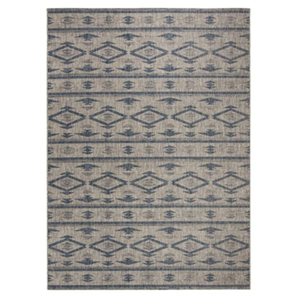 Safavieh Grey and Navy Courtyard Indoor/Outdoor Rug,CY8863-3