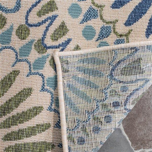 Safavieh Cream and Green Veranda Indoor/Outdoor Rug,VER091-0