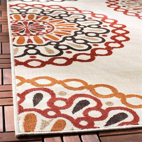 Safavieh Crème and Red Veranda Indoor/Outdoor Rug,VER