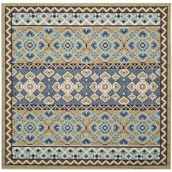 Safavieh Green and Blue Veranda Indoor/Outdoor Rug,VER093-06