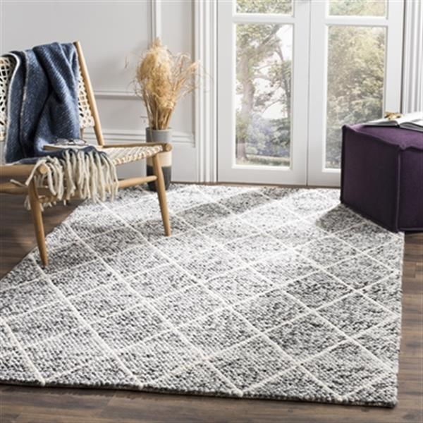 Safavieh Natura Ivory and Black Hand Tufted Area Rug,NAT712C
