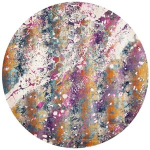 Safavieh Radiance Cream and Magenta Power Loomed Area Rug,RA