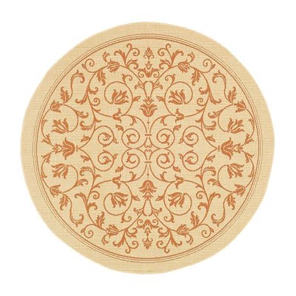 Safavieh CY2098-3201 Courtyard Area Rug, Natural / Terracott