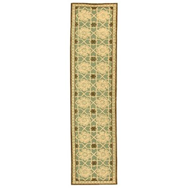 Safavieh Newport 27-in. Teal/Ivory Runner