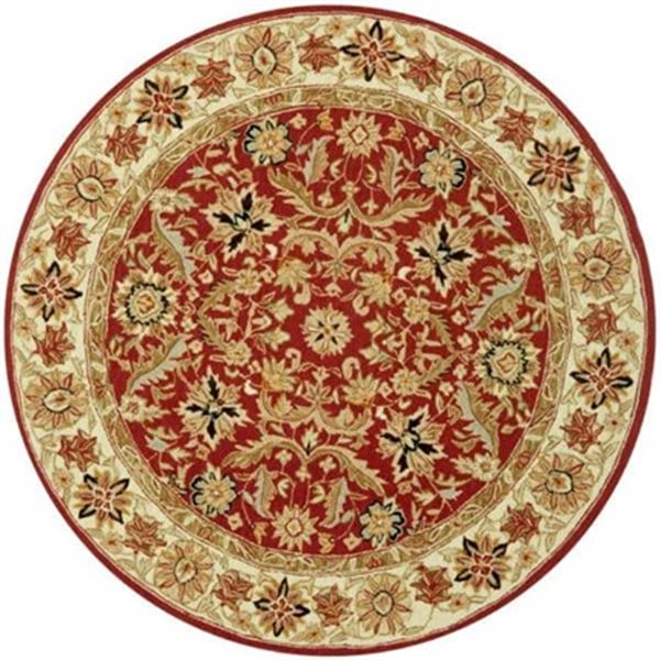 Safavieh HK157A Chelsea Area Rug, Red/Ivory,HK157A-5R