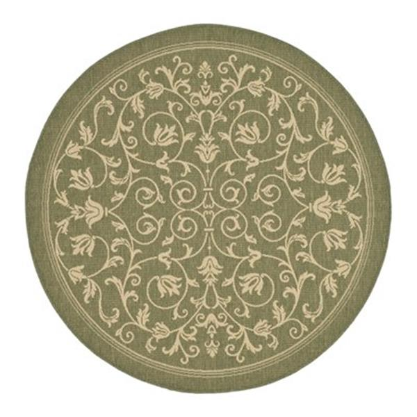 Safavieh CY2098-1E06 Courtyard Area Rug, Olive / Natural,CY2