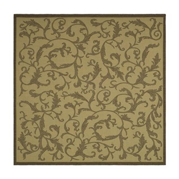 Safavieh CY2653-3001 Courtyard Area Rug, Natural / Brown,CY2