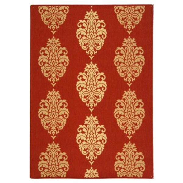 Safavieh CY2720-3707 Courtyard Indoor/Outdoor Area Rug, Red,