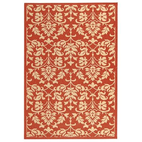 Safavieh CY3416-3707 Courtyard Indoor/Outdoor Area Rug, Red,