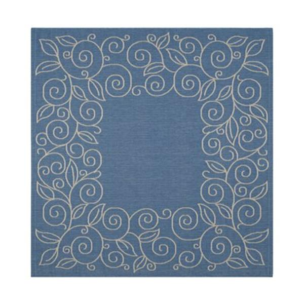 Safavieh Courtyard Blue and Beige Area Rug,CY5139C-6