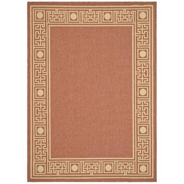 Safavieh Courtyard 7 ft x 10 ft Orange Indoor/Outdoor Area Rug