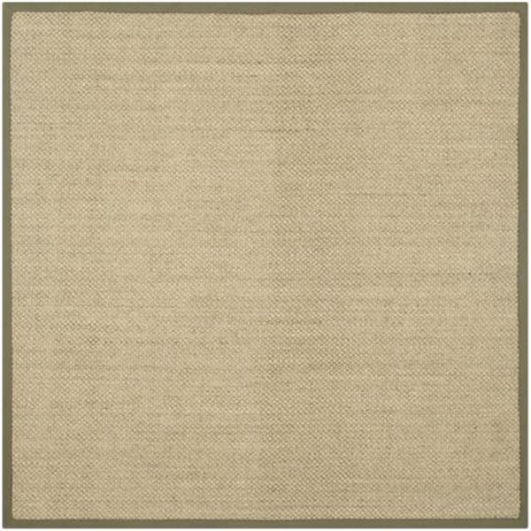 Safavieh Natural Fiber Natural and Green Area Rug,NF443C-6SQ