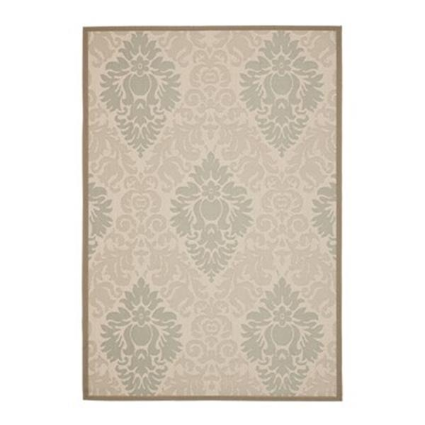 Safavieh Courtyard Indoor/Outdoor 7-ft x 10-ft Floral Beige Area Rug