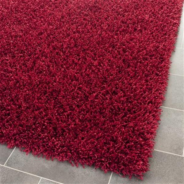Safavieh SG851R Shag Area Rug, Red,SG851R-5