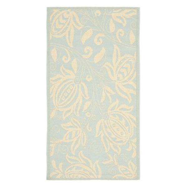 Safavieh Courtyard Indoor/Outdoor 7-ft x 10-ft Blue Area Rug