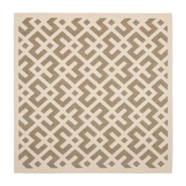 Safavieh Courtyard Indoor/Outdoor 7-ft x 10-ft Tan Area Rug