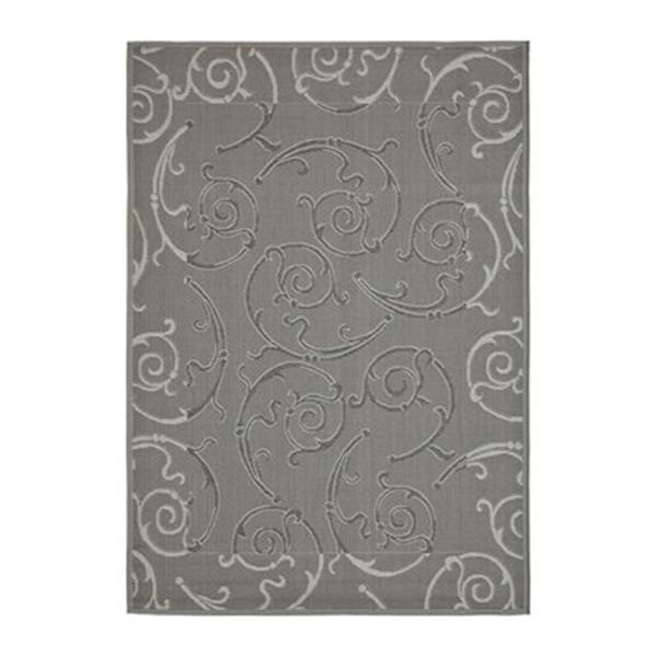 Safavieh Courtyard 7 ft x 10 ft Anthracite and Light Grey Indoor/Outdoor Area Rug