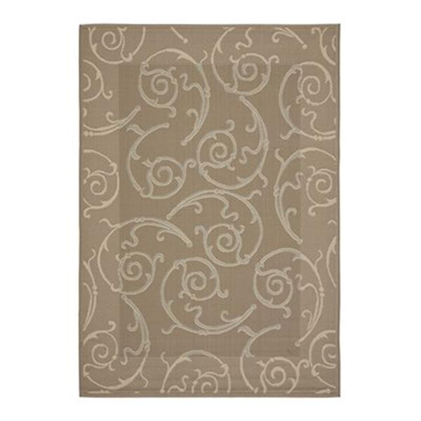 Safavieh Courtyard 7 ft x 10 ft Dark Beige Indoor/Outdoor Area Rug