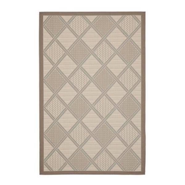 Safavieh Courtyard 7 ft x 10 ft Cream Indoor/Outdoor Area Rug
