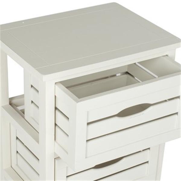 Safavieh Samara 29.5-in Distressed Cream Cabinet Table