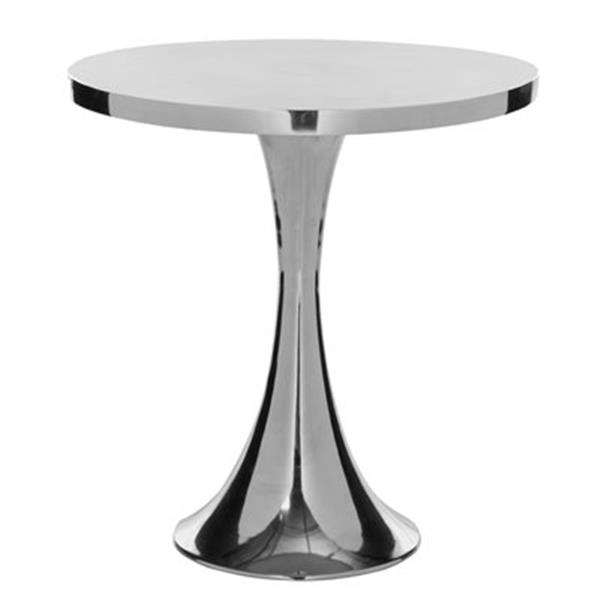 Safavieh Galium 19.3-in Silver Round Side Table