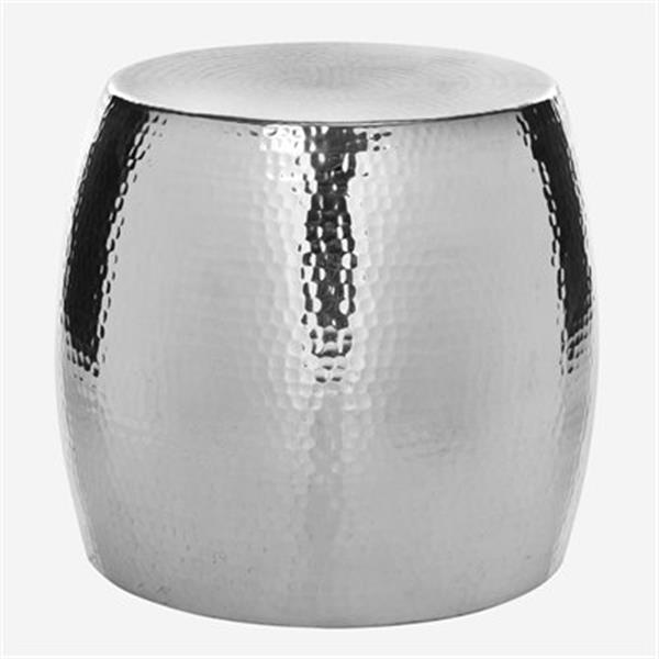Safavieh Odin 15.8-in Silver Round Stool Table