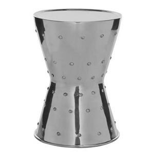 Safavieh Rivet 19.7-in Silver Aluminum Stool Table
