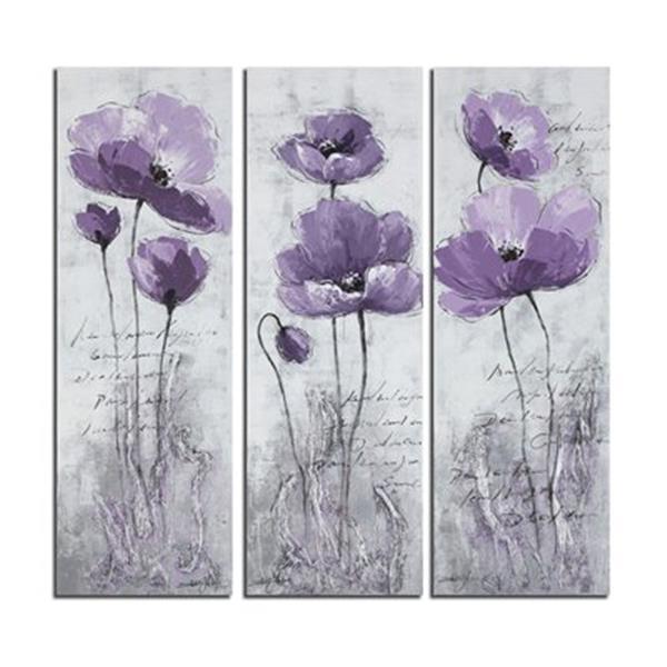 Safavieh 47.20-in x 47.20-in Purple Poppy Wall Art