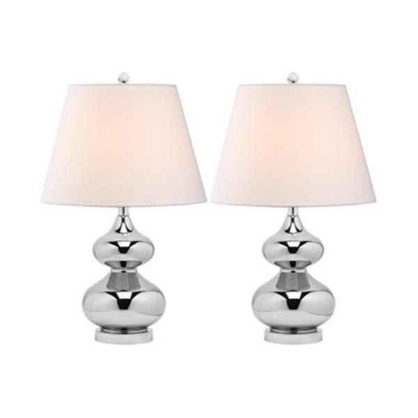 Safavieh 24-in Silver Double-Gourd Lamps (Set of 2)
