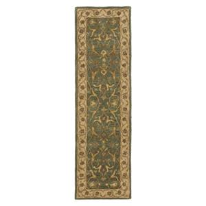 Safavieh Heritage 27-in Blue And Beige Runner