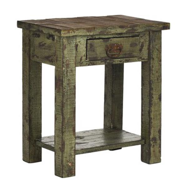 Safavieh Alfred 24.2-in Antique Green End Table