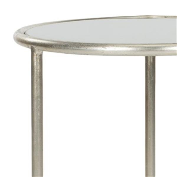Safavieh Shay 19.7-in Silver/Grey Glass Accent Table