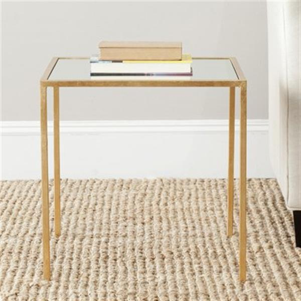 Safavieh Kiley 18.1-in Gold/Mirror Accent Table