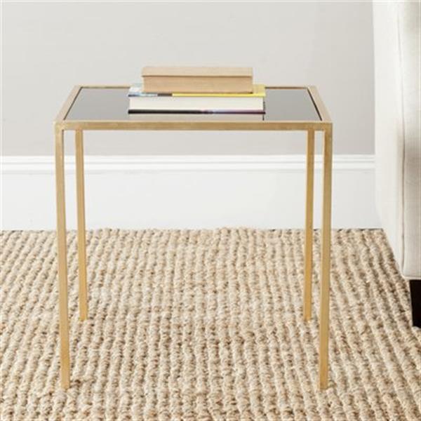 Safavieh Kiley 18.1-in Gold/Black Glass Accent Table