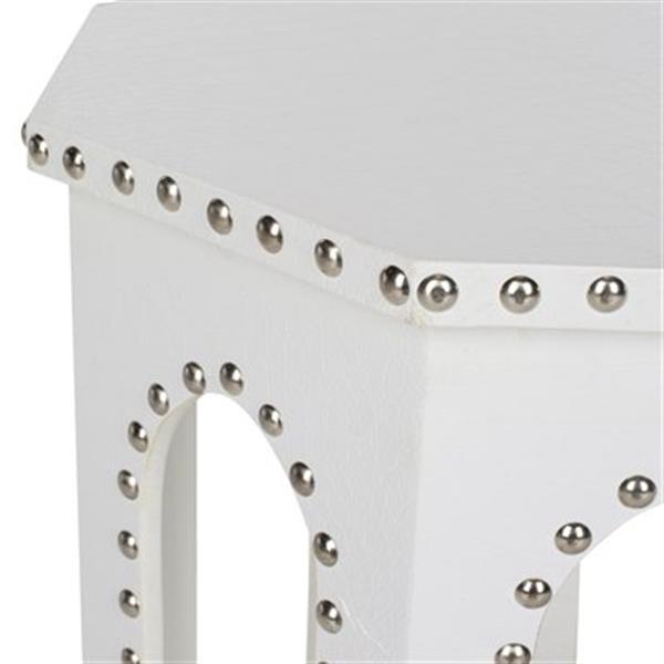 Safavieh Nara 22-in White Table Stool