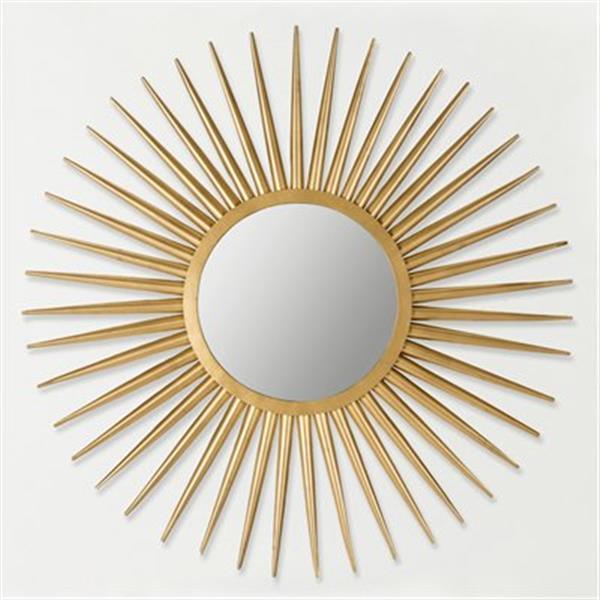 Safavieh Sun Flair 36-in x 36-in Gold Mirror