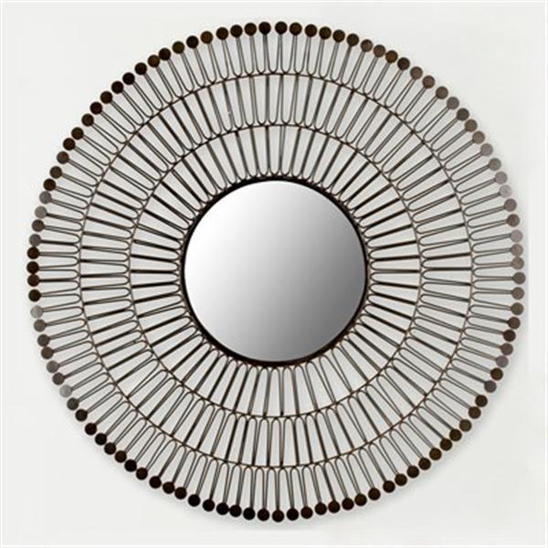 Safavieh New Victoria 31-in x 31-in Coffee Bronze Mirror