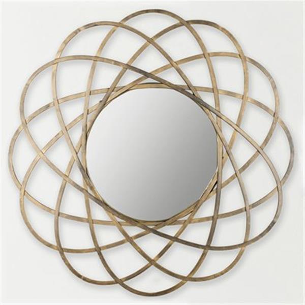 Safavieh Galaxy Wall 32-in x 32-in Antique Gold Mirror