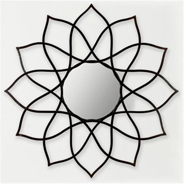 Safavieh Flower Power 35-in x 35-in Coffee Bronze Mirror