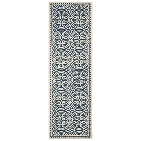 Safavieh Cambridge 30-in Navy And Ivory Runner