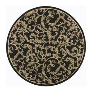 Safavieh Courtyard Indoor/Outdoor Round Black Area Rug