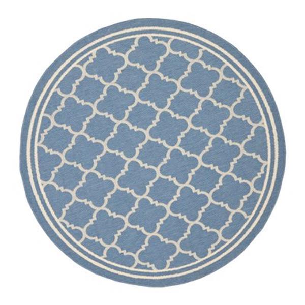 Safavieh Courtyard Indoor/Outdoor Blue Round Area Rug