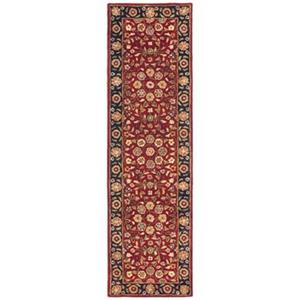 Safavieh Heritage 27-in Red And Navy Runner