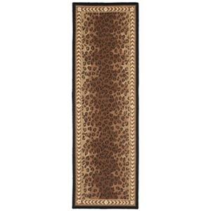 Safavieh Chelsea 30-in Black And Brown Runner