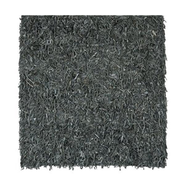 Safavieh LSG511N Leather Shag Area Rug, Grey,LSG511N-6SQ