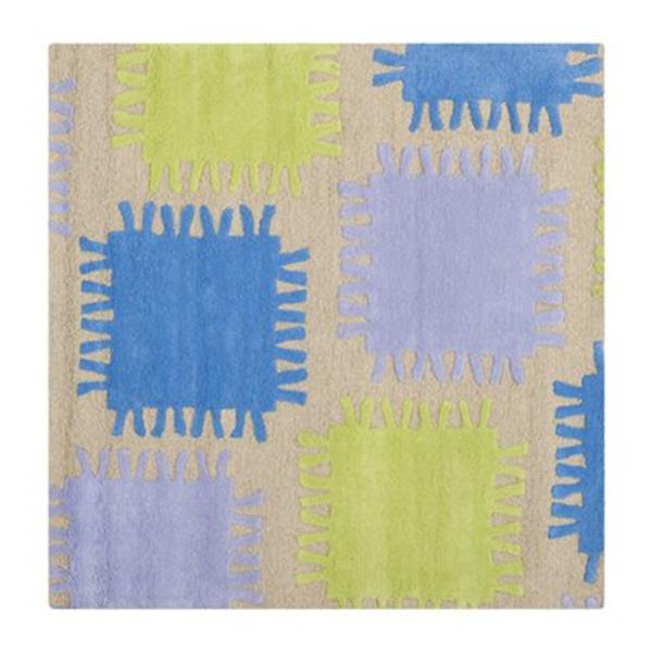 Safavieh Beige and Multi-Colored Kids Area Rug,SFK352A-5SQ